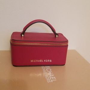 NWT Michael Kors Leather Jewelry Case